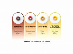 Disco de Lixa Optidisc Extra Fino com 30 unidades 12,6mm - Kerr