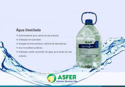 Água Destilada para Autoclave -Asfer Embalagem com 02 Unidades