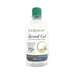 Álcool Gel 70% antisséptico 500ml  Polla  Rennon