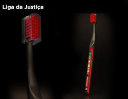 Kit Viagem Liga da Justiça Escova + Creme dental + Fio dental - Dentalclean