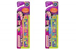 Escova Dental Infantil com estojo Personagens - DentalClean