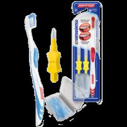 Kit  Escova dental ortodontica Adulto  - Dentalclean