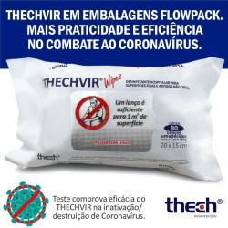 Lenço Umedecido Desinfetante Thechvir - Thech