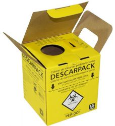 Coletor de Material Perfuro Cortante 1,5 LT - Descarpack