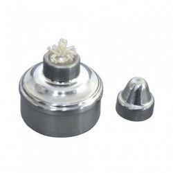 Lamparina Boca Larga 100ml em Aluminio - Ortocentral
