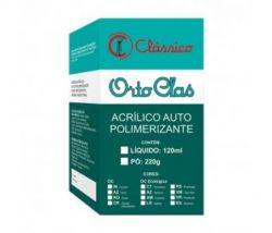 Resina Acrílica Orto-Clas com Crosslink Liquida 120ml - Clássico